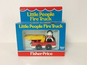 Fisher Price vintage Little People Fire Truck mint in box