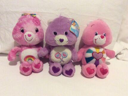 Care Bears plush toys ( lot 9 )