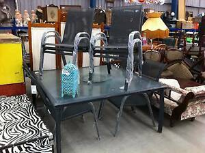 8 place outdoor glass top dining set#63 North Geelong Geelong City Preview