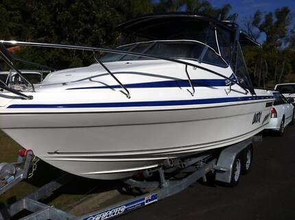 Seafarer Victory Half Cabin boat 150hp and trailer Ashmore Gold Coast City Preview