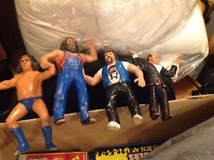 1984 Vintage collectible wrestling figures. About 8 inches high