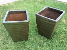 Olive Green Terracotta Garden Pots Maryland Newcastle Area Preview