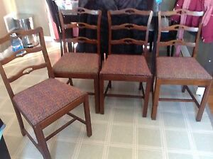 All for $40 Set of 4 chairs 1 is damaged.