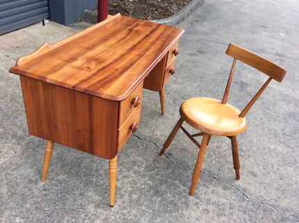 *EXTREMELY RARE* FLER DC1 Study Chair & MATCHING Mid Century DESK