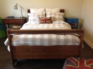 IKEA Wooden Bed  - Double