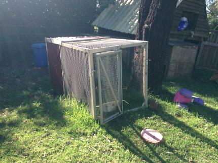 Chicken cage, hen house. Coop. Hutch rabbit