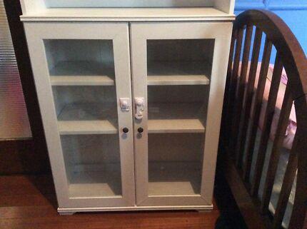 Tall wooden shelf/ cabinet