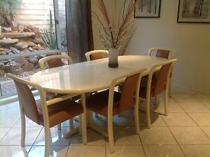 Dining Suite - Table and 6 leather chairs Hallett Cove Marion Area Preview