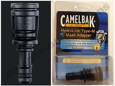 NEW CamelBak Type-M Hydrolink Gas Mask Adapter M17 M70 M40 MCU2p C4 Millennium for sale  Maumee