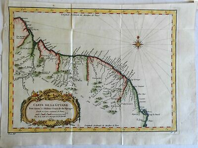 Guyana South America 1757 Bellin European Colonies Suriname French Guyana