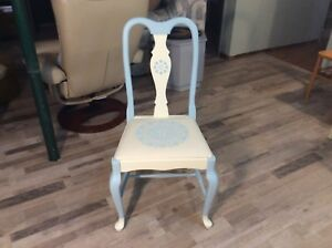 Chalk Painted and Stencilled Accent Chair