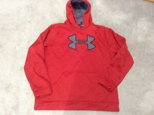 Under armour red hoodie, sweater, top great for spring