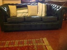 Green leather Chesterfield couch Carseldine Brisbane North East Preview