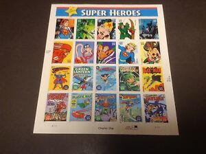 Timbres USA Super héros DC comics Superman Batman Wonder Woman