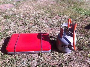 Primus two burner gas stove and bottle with cookset Echuca Campaspe Area Preview