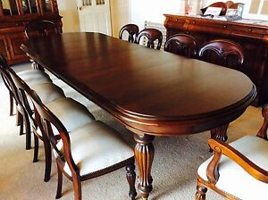 Formal 10 seater Mahogany Dining Setting Antique Reproduction Leppington Camden Area Preview