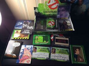 Ghostbusters trading cards cryptozoic entertainment autographs