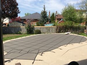 Mesh pool safety cover