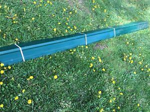 Green metal roof ridge cap (Creston)