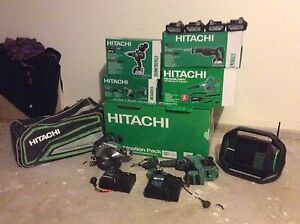 Brand new 8 piece 18V Hitachi cordless set with  6.0Ah batteries Burwood Heights Burwood Area Preview