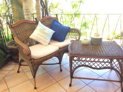 Great Cane Couch and Table