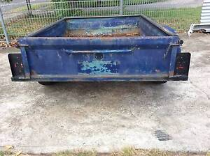 box trailer 6x4 no rego some rust in floor & sides draw bar is be Mount Druitt Blacktown Area Preview