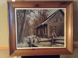 Peinture du peintre Boucher dim peinture seulement 20 x 16 1/2