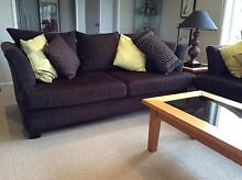 2 X  SOFA LOUNGES - 190 CMS LONG-  BROWN UPHOLSTERY P/UP 3216 Highton Geelong City Preview
