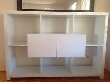 White Gloss Bookcase Rosemeadow Campbelltown Area Preview
