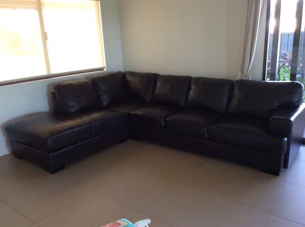Leather 5 Seater Lounge Broome 6725 Broome City Preview