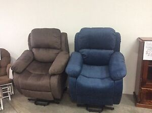 New Fabric Electric Lift Recliner Chair with Warranty Wynnum Brisbane South East Preview