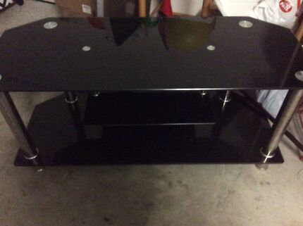Black tempered tv unit Murrumba Downs Pine Rivers Area Preview