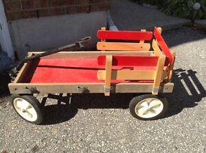 Solid vintage wood cart,,,GREAT CHRISTMAS DISPLAYS!