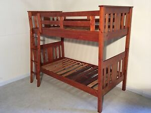 Solid wooden single bunk bed boys girls SYDNEY DELIVERY ASSEMBLY Windsor Hawkesbury Area Preview