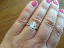 NEW Platinum Engagement & Wedding Ring Set (Eternal Fire) Narrandera Narrandera Area Preview