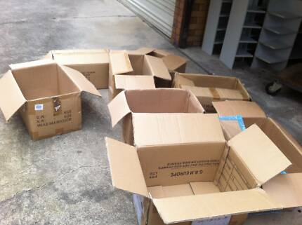 Cardboard boxes for moving or storage