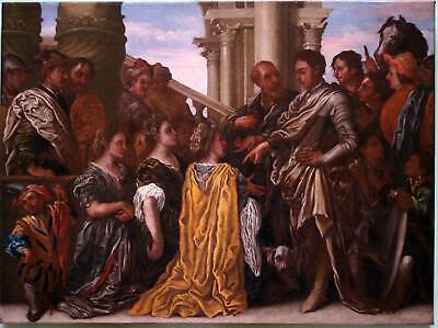 ALEXANDER und DARIUS ein sehr schönes Ölgemälde BAROCK ORIGINAL um 1670