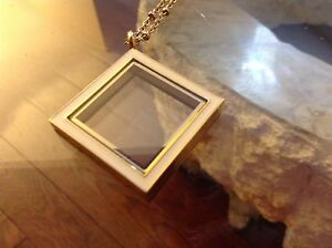 Beautiful Locket /White Enamel-Brand New
