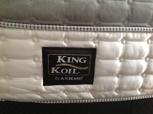 Queen size, king koil pillow top mattress.