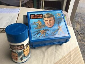 """million dollar man ""lunch kit c/w thermos (in Fort Frances)"