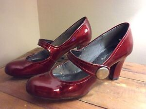Liz Claiborne ruby red Mary Janes - VICTORIA HARBOUR