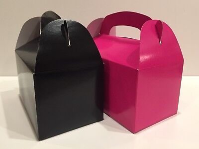 Pink And Black Baby Shower (24 PARTY FAVOR TREAT BOX - 12 HOT PINK  12 BLACK BAG BIRTHDAY BRIDAL BABY)