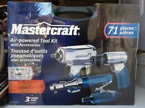 MasterCraft Air Powered Tool Set with Accessories For Sale!!
