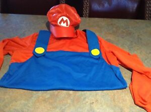 $10 Mario costume turned into crop top and hat sz M
