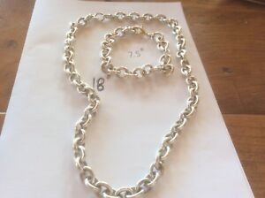"""2 Faux 18"""" Tiffany necklace and  1 7.5"""" bracelet"""