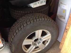 4 RTX Rims with Blizzack tires 17 inch