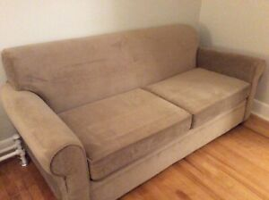 BEIGE COLOUR QUEEN SIZED SOFA BED