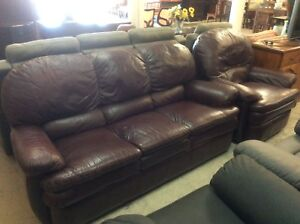 Leather Lounge Suite Wangara Wanneroo Area Preview