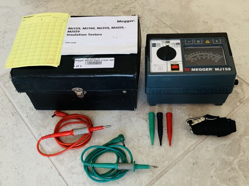 Megger MJ159 Hand-Crank Insulation Continuity / Voltage Tester Megohmmeter Meter