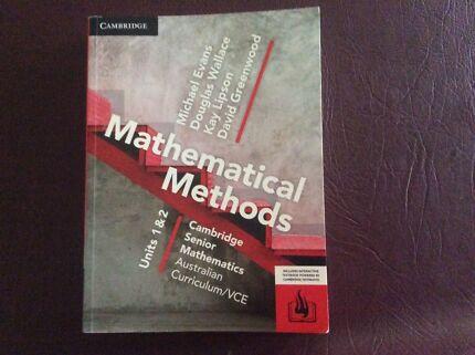 Mathematical methods units 1&2 Cambridge senior maths